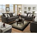 American Furniture 3850 Elegant Sofa with Contemporary Style - 3853 Flannel Seal