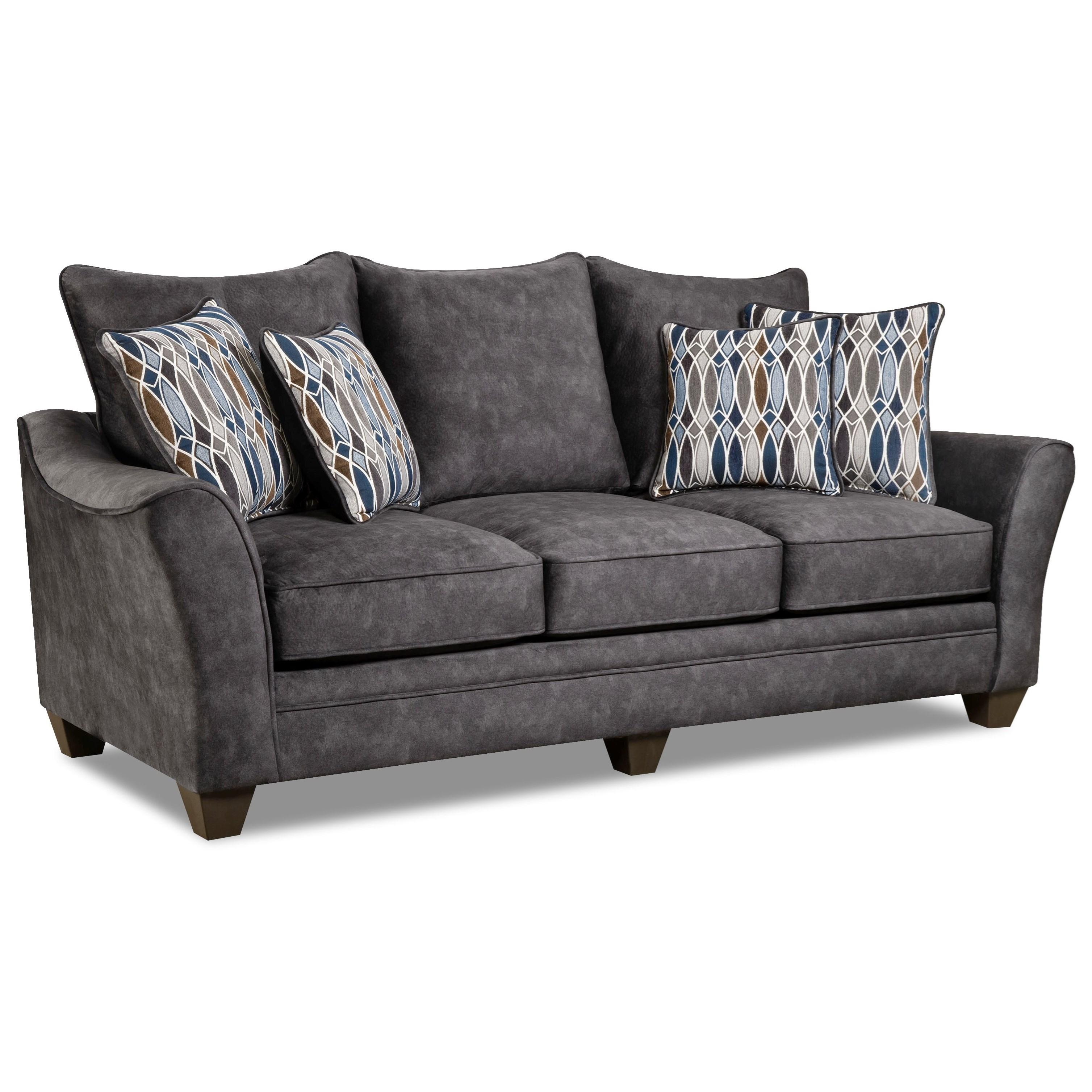 American Furniture 3850 Sofa - Item Number: 3853-Athena-Grey