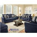 American Furniture 3850 Navy Group Shot - Item Number: 3853navy