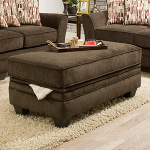 3850 Storage Ottoman by American Furniture