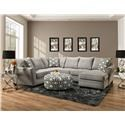 American Furniture Della 2-Piece Sectional - Item Number: 1848A-2PC