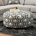 American Furniture 4810 Round Ottoman - Item Number: 4554-3516