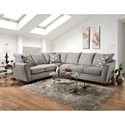 American Furniture 4810 5 Seat Sectional Sofa - Item Number: 4810+20-2124