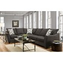 American Furniture 4810 5 Seat Sectional Sofa - Item Number: 4810+20-2126