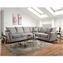 American Furniture 4810 5 Seat Sectional Sofa - Item Number: 4840+4816 2124