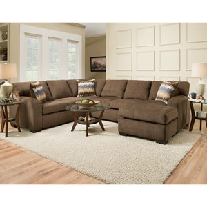 American Furniture 5250 Sectional Sofa   Seats 5