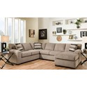 American Furniture 5250 Sectional Sofa - Seats 5 - Item Number: 5210+5230-4213