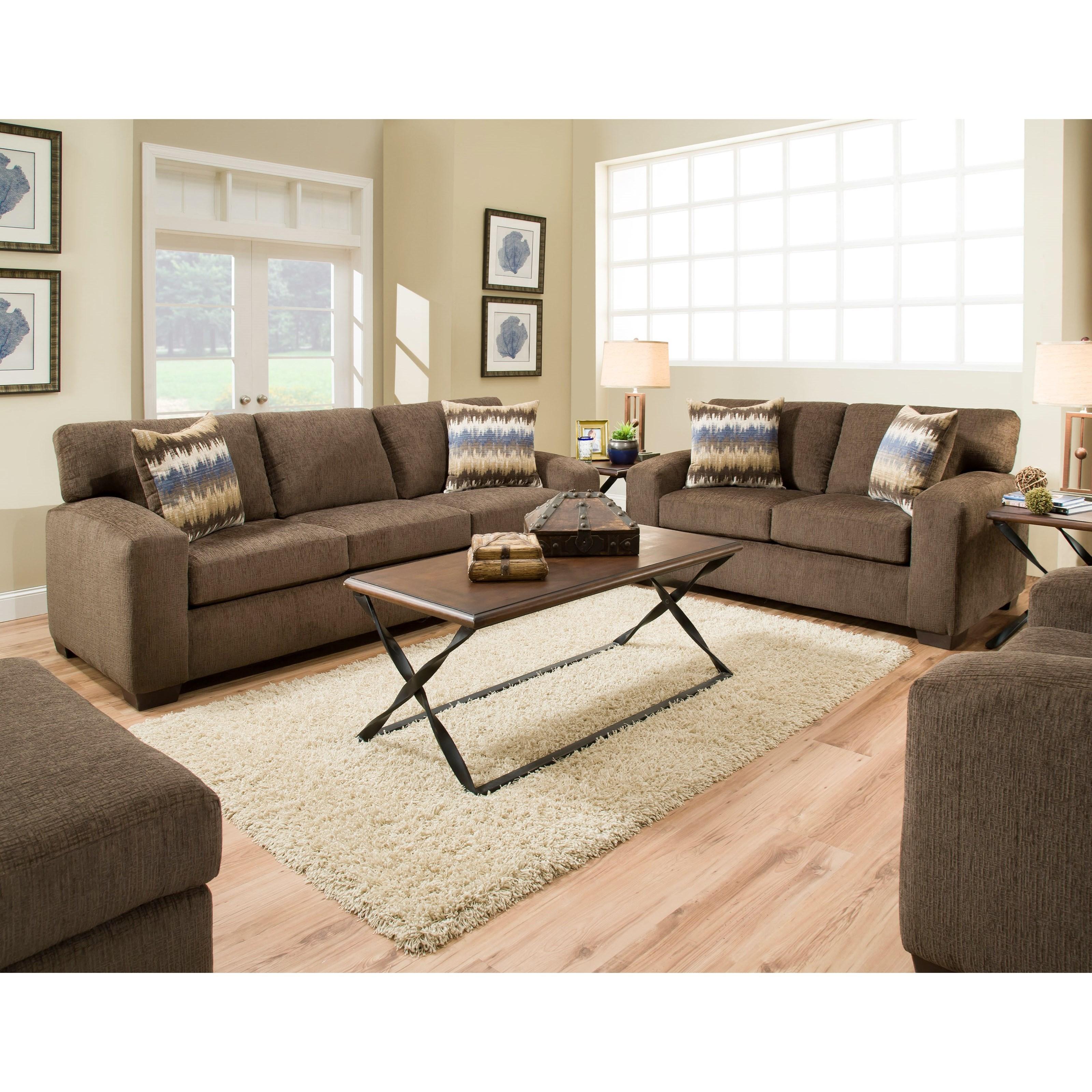 American Furniture 5250 Loveseat Prime Brothers Furniture Love Seats