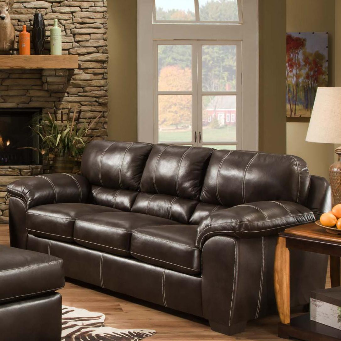 American Furniture 5400 Casual Sofa With Comfortable Pillow Arms Prime Brothers Furniture Sofas