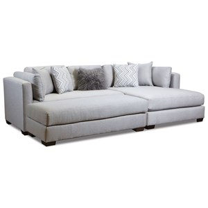 American Furniture 5500 Chaise-Inspired Sectional Sofa