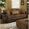 American Furniture 5850 Sofa with Exposed Wood - Item Number: 5853-6370
