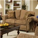 American Furniture 6000  Traditional Loveseat with Nail Head Trim - 6002-2350