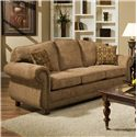 American Furniture 6000  Traditional Sofa with with Nail Head Trim - 6003-2350