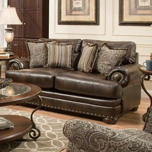 American Furniture 6400 Loveseat with Traditional Style