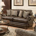 American Furniture 6400 Loveseat with Traditional Style - Item Number: 6402-8660