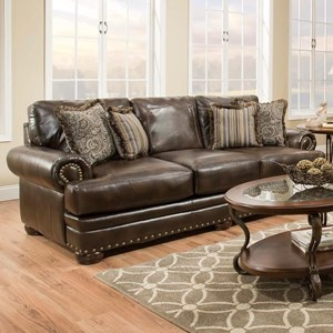 American Furniture 6400 Sleeper Sofa with Traditional Style