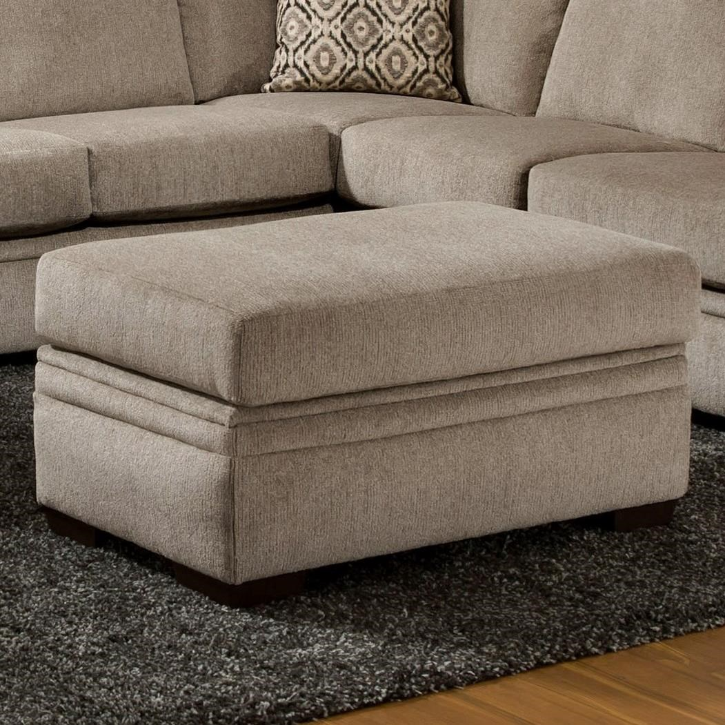 American Furniture 6800 Storage Ottoman - Item Number: 6806-1664