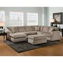 American Furniture 6800 Storage Ottoman with Block Feet