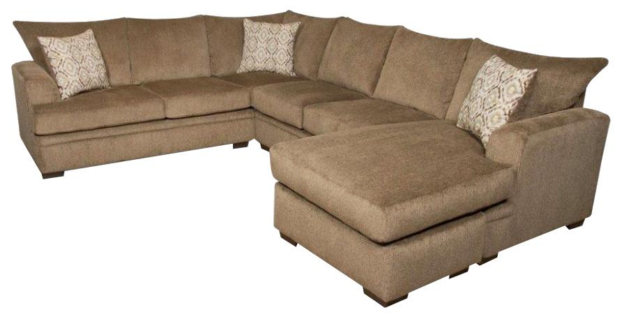 American Furniture 6800 Sectional Sofa with Right Side Chaise - Item Number: 6810+6830-1661