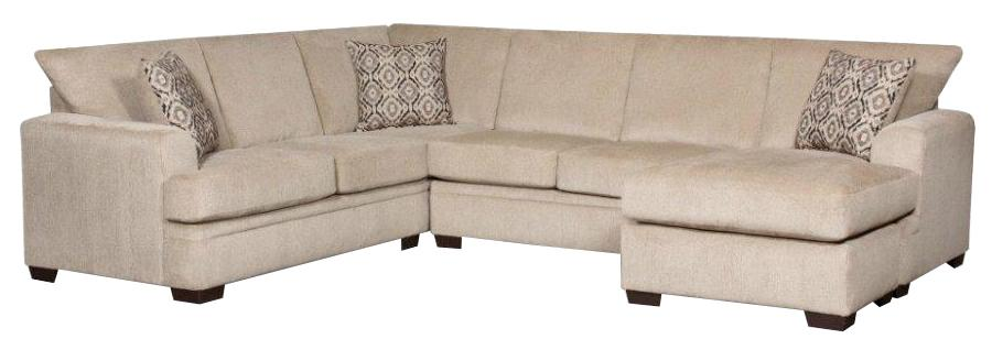 American Furniture 6800 Sectional Sofa with Right Side Chaise - Item Number: 6810+6830-1663