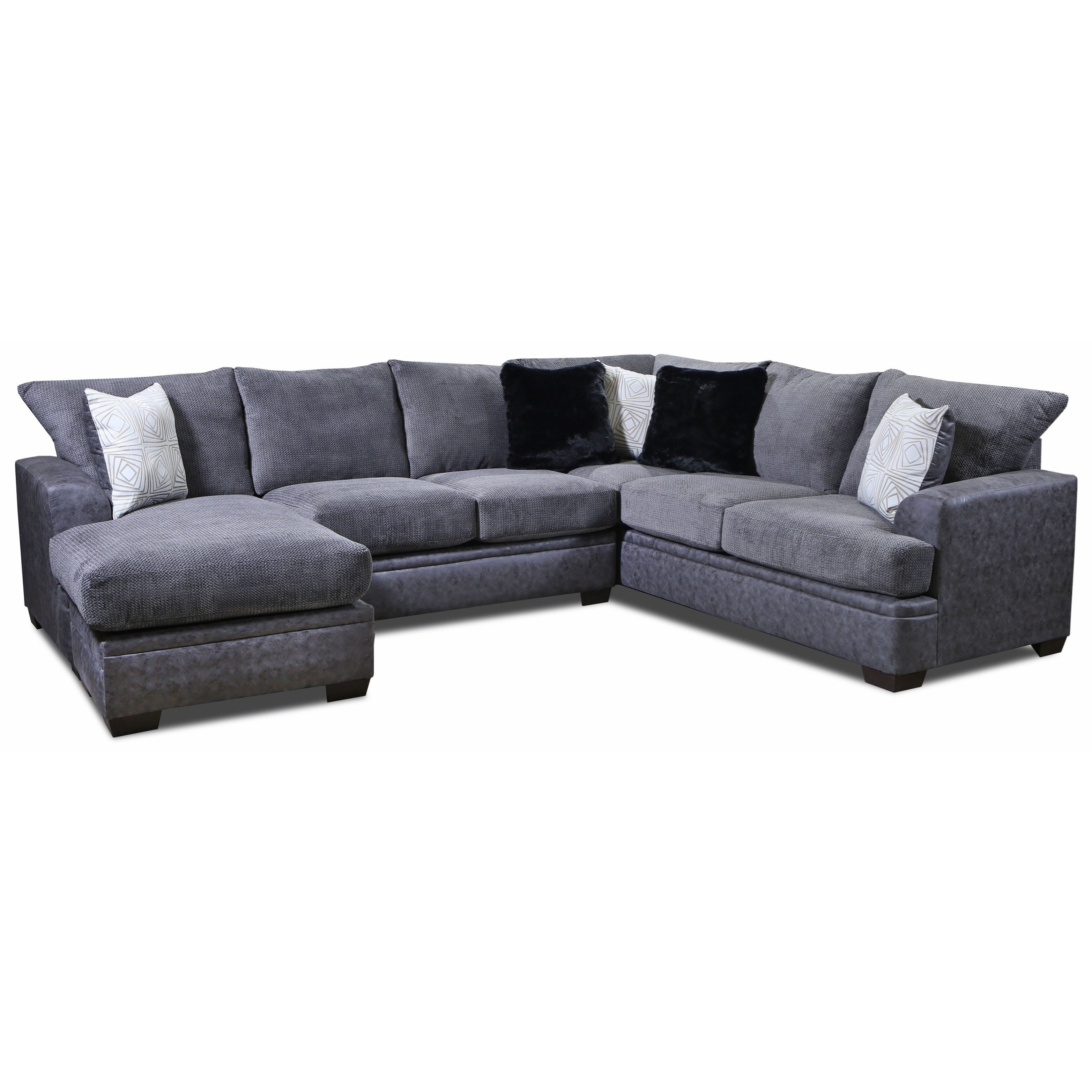 6800 Sectional Sofa with Left Side Chaise by Vendor 610 at Becker Furniture