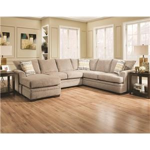 American Furniture Christine Sectional Sofa with Left Side Chaise