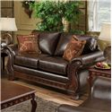 American Furniture 6900 Upholstered Loveseat with Exposed Wood Frame - 6902 4850