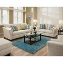 American Furniture 7300 Living Room Group - Item Number: 7300-Living-Room-Group-3821