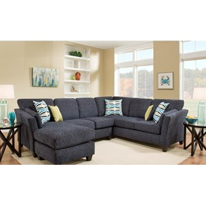 American Furniture 7300 Sectional Sofa with Chaise