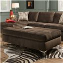 American Furniture 7400 Ottoman - Item Number: 7405-2061