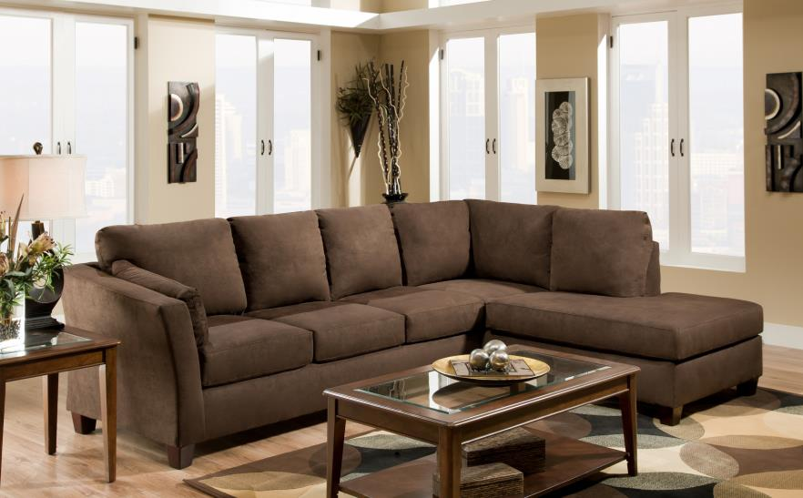 American Furniture 7900 Casual L Shaped Upholstered Stationary Sectional With Rsf Chaise Prime