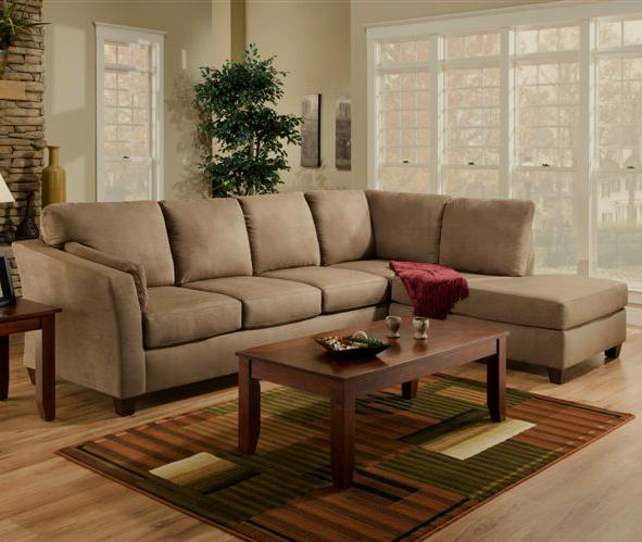American Furniture 7900 L Shaped Upholstered Stationary Sectional - Item Number: 7910DB+7920DB