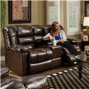 American Furniture AF550 4800 Reclining Loveseat w/ Console