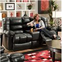 American Furniture AF550 Group Reclining Loveseat with Console and Contemporary Style - AF5502 4801