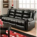 American Furniture AF550 Group Reclining Sofa with Sleek Sophisticated Style - AF5503 4801