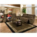 American Furniture AF740 Reclining Loveseat with Cup Holders and Storage - AF7402-7980 - Item Shown May Not Represent Exact Features Indicated