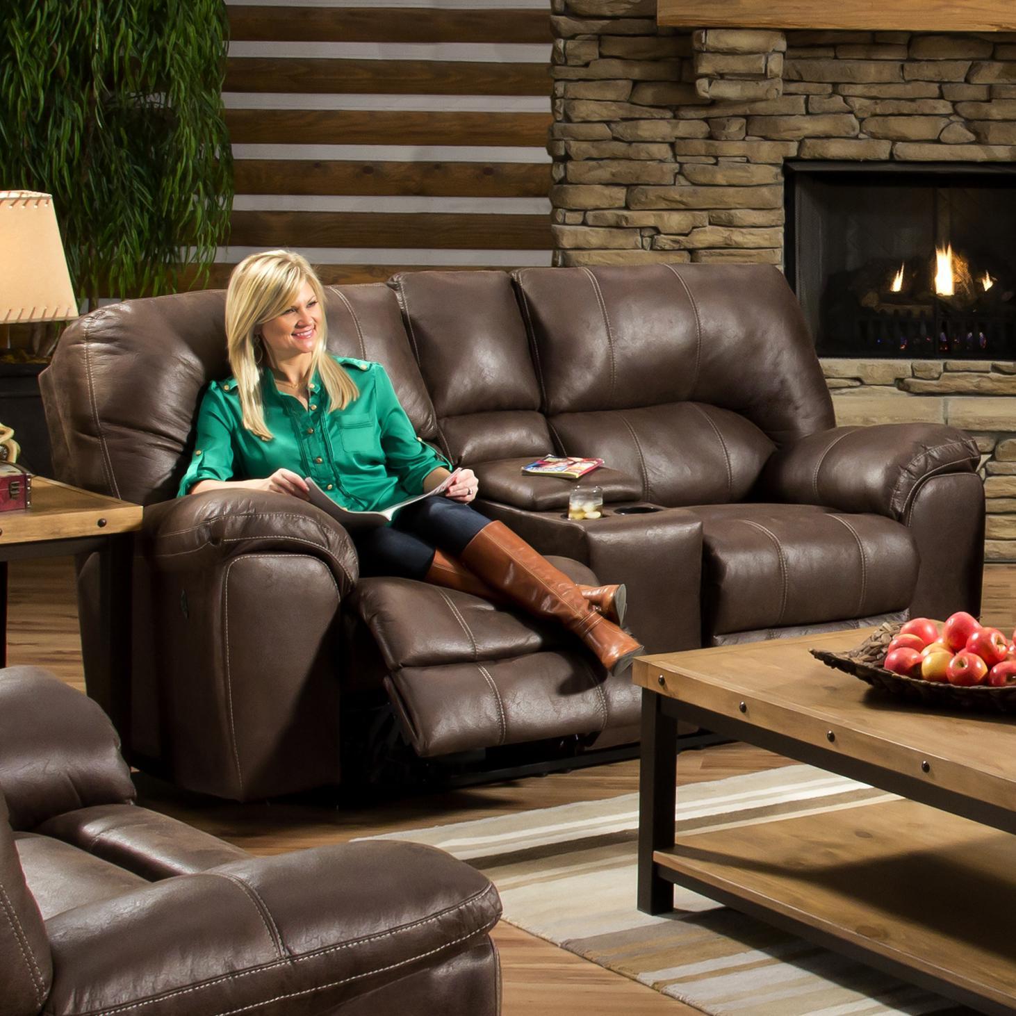 American Furniture AF740 Reclining Loveseat - Item Number: AF7402-8590