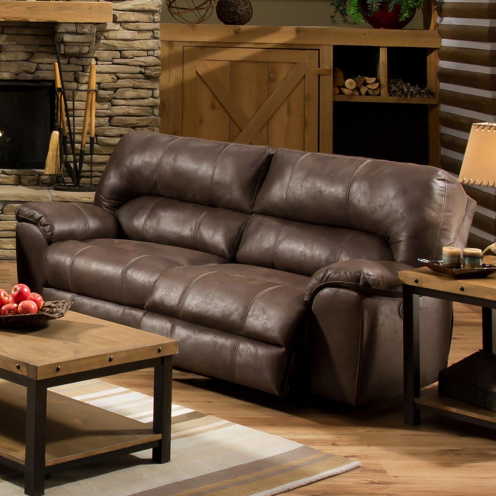 American Furniture Af740 Reclining Sofa With Headrest