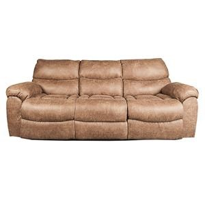 Morris Home Furnishings Mitchem Dakota Recling Sofa with Drop Down Table