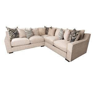 Morris Home Furnishings Kersey Kersey 3-Piece Sectional  sc 1 st  Morris Furniture : sectional sofas cincinnati - Sectionals, Sofas & Couches