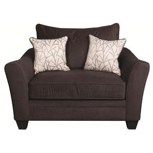 Morris Home Furnishings Rachel Rachel Casual Chair and a Half