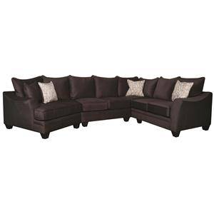 Morris Home Furnishings Rachel Rachel Sectional Sofa