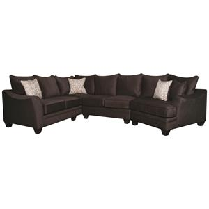 Morris Home Furnishings Rachel Rachel Modern Sectional Sofa