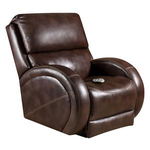 Recliners  Rocker Recliner with Heat and Massage in Contemporary Style by American Furniture