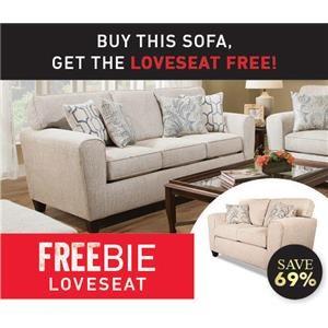 Rexanna Sofa with Freebie  Loveseat
