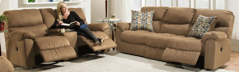 Morris Home Furnishings Thayer Thayer Reclining Sofa and Loveseat Package - Item Number: 117179452