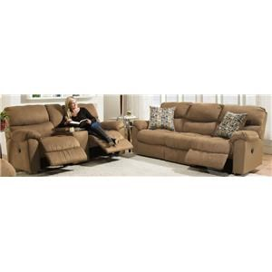 Morris Home Furnishings Thayer Thayer Reclining Sofa and Loveseat Package