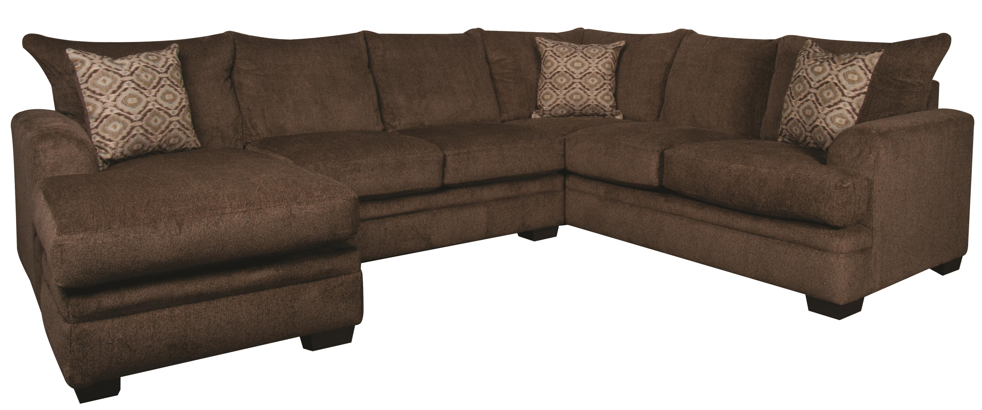 Walter Walter Sectional with Accent Pillows by Peak Living at Morris Home