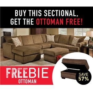 Walter Sectional Sofa with Freebie!