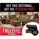 Peak Living Walter Walter Sectional Sofa with Freebie! - Item Number: 403387894